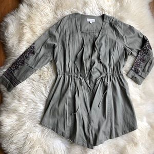 Knox Rose Embroidered Waterfall Jacket XL